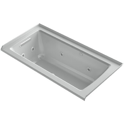 Archer Integral Flange Whirlpool and BubbleMassage� Air Bath with Left-Hand Drain Finish: Ice Grey