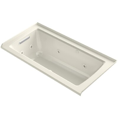 Archer Integral Flange Whirlpool and BubbleMassage� Air Bath with Left-Hand Drain Finish: Biscuit