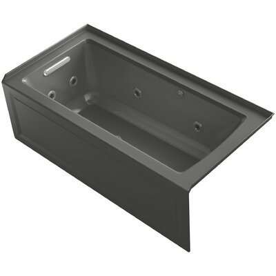 Archer Alcove Whirlpool and BubbleMassage� Air Bath with Left-Hand Drain Finish: Thunder Grey