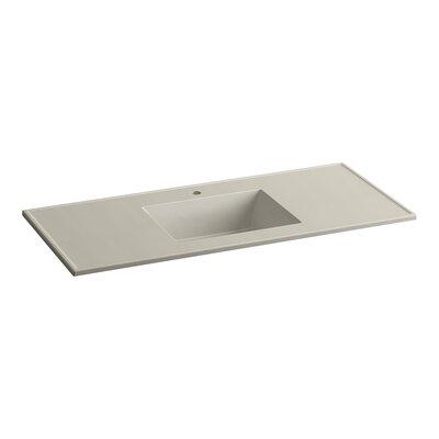 Ceramic Impressions Rectangular Drop-In Bathroom Sink with Overflow Finish: Sandbar Impressions