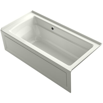 Archer Alcove Bath with Bask� Heated Surface, Integral Apron, Tile Flange and Right-Hand Drain Finish: Dune