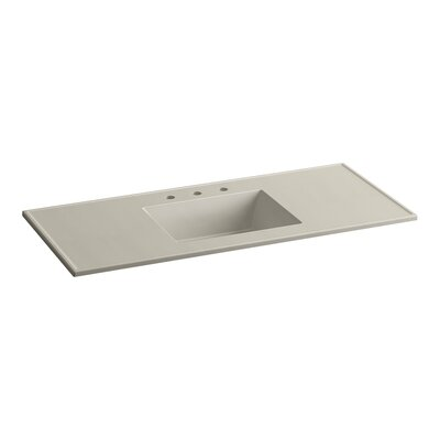 Ceramic Impressions Rectangular Drop-In Bathroom Sink with Overflow Finish: Sandbar Impressions
