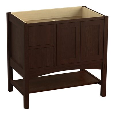 Marabou 36 Vanity 2 Doors and 2 Drawers on Left Finish: Cherry Tweed
