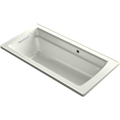Archer Drop-in Bath with Bask� Heated Surface and Reversible Drain Finish: Dune