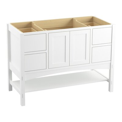 Marabou� 48 Vanity with 2 Doors and 4 Drawers Finish: Linen White