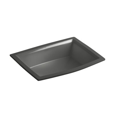 Archer Ceramic Rectangular Undermount Bathroom Sink with Overflow Sink Finish: Thunder Grey