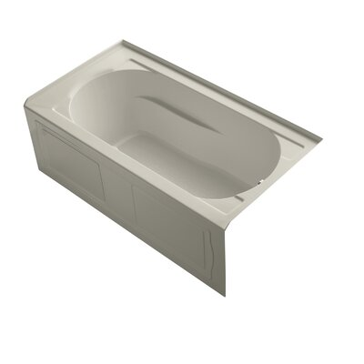 Devonshire Alcove Whirlpool with Integral Apron, Tile Flange, Right-Hand Drain and Bask Heated Surface Finish: Sandbar