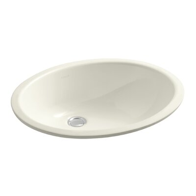 Caxton Oval Undermount Bathroom Sink with Overflow Sink Finish: Biscuit