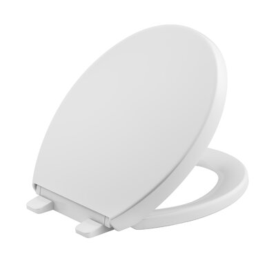 Reveal Quiet-Close with Grip-Tight Round-Front Toilet Seat Finish: White