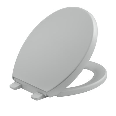 Reveal Quiet-Close with Grip-Tight Round-Front Toilet Seat Finish: Ice Grey