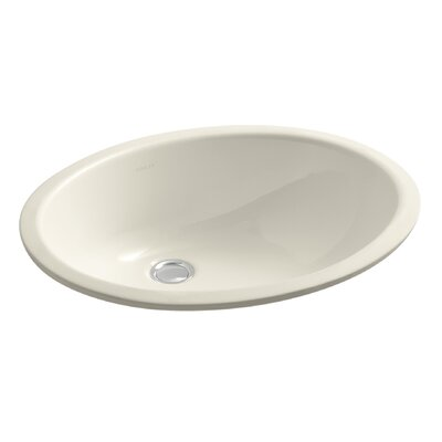 Caxton Oval Undermount Bathroom Sink with Overflow Sink Finish: Almond