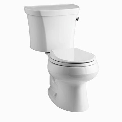 Wellworth Two-Piece Round-Front 1.28 GPF Toilet with Class Five Flush Technology, Right-Hand Trip Lever and Insuliner Tank Liner Finish: White