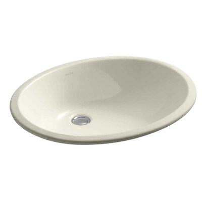 Caxton Ceramic Oval Undermount Bathroom Sink Sink Finish: Almond