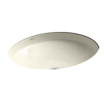 Canvas Oval Undermount Bathroom Sink Sink Finish: Cane Sugar