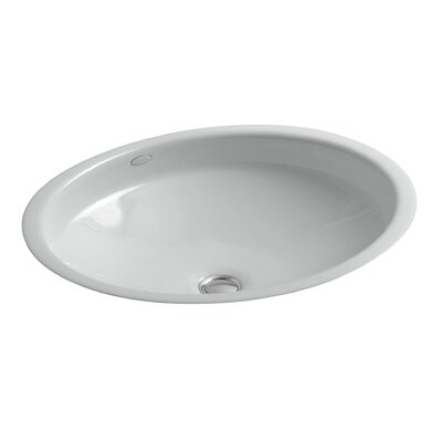 Canvas Oval Undermount Bathroom Sink Sink Finish: Ice Grey