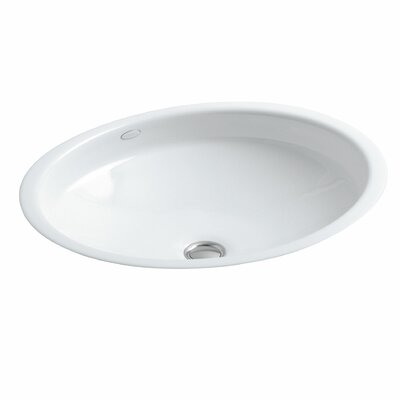 Canvas Metal Oval Undermount Bathroom Sink with Overflow Sink Finish: White