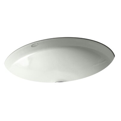 Canvas Oval Undermount Bathroom Sink Sink Finish: Sea Salt