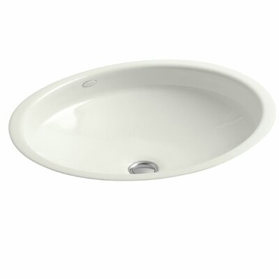 Canvas Metal Oval Undermount Bathroom Sink with Overflow Sink Finish: Dune