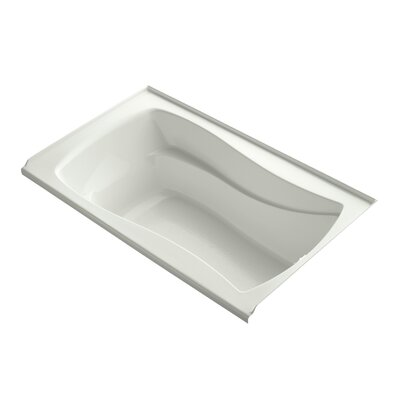 Mariposa 60 x 36 Bathtub with Integral Tile Flange Finish: White, Drain Location: Left