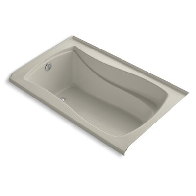 Mariposa 60 x 36 Bathtub with Integral Tile Flange Finish: Sandbar, Drain Location: Left