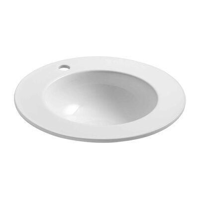 Camber Self Rimming Bathroom Sink Finish: White