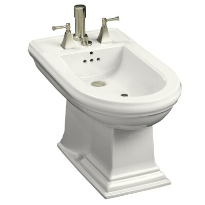 Memoirs Vertical Spray Bidet with 4 Faucet Holes Finish: White
