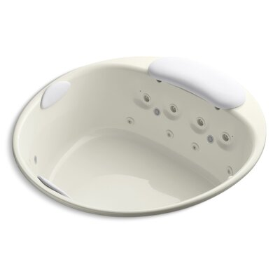 Riverbath 66 x 66 Whirlpool Bathtub Finish: Biscuit