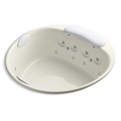 Riverbath 66 x 66 Whirlpool Bathtub Finish: Biscuit
