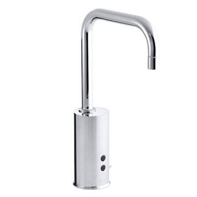 Gooseneck Single-Hole Touchless Ac-Powered Commercial Faucet with Insight Technology and Temperature Mixer Finish: Polished Chrome