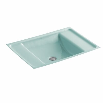 Ledges Rectangular Undermount Bathroom Sink Sink Finish: Vapour Green