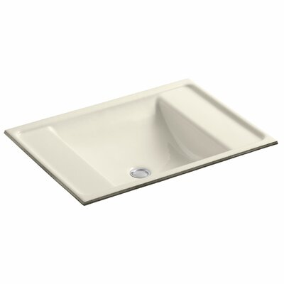 Alteo Metal Rectangular Undermount Bathroom Sink with Overflow Sink Finish: Almond