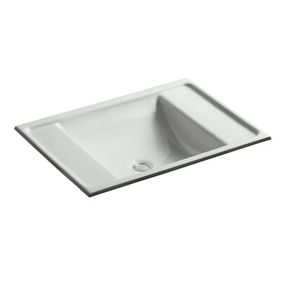 Alteo Metal Rectangular Undermount Bathroom Sink with Overflow Sink Finish: Sea Salt