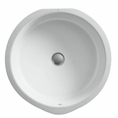 Verticyl Ceramic Circular Undermount Bathroom Sink with Overflow Sink Finish: White