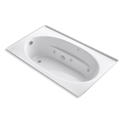 Windward 72 x 42 Whirlpool Bathtub Finish: White