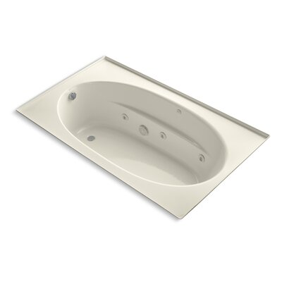 Windward 72 x 42 Whirlpool Bathtub Finish: Almond