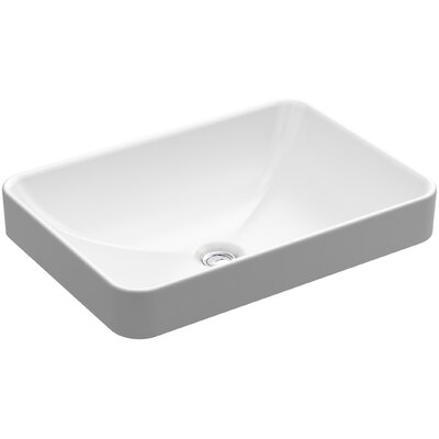 Vox Rectangle Vessel Bathroom Sink with Overflow