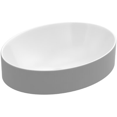 Vox Oval Vessel Bathroom Sink with Overflow
