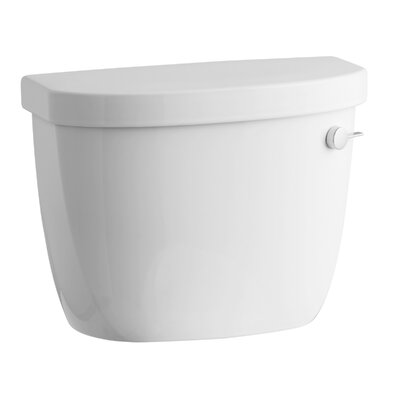 Cimarron 1.6 GPF Toilet Tank with Aquapiston Flush Technology, Right-Hand Trip Lever and Tank Locks Finish: White