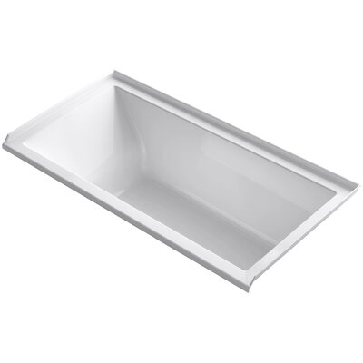 Underscore Alcove Vibracoustic 60 x 30 Soaking Bathtub Finish: White