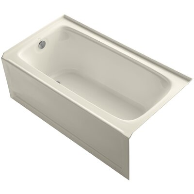 Bancroft Alcove 60 x 32 Soaking Bathtub Finish: Almond