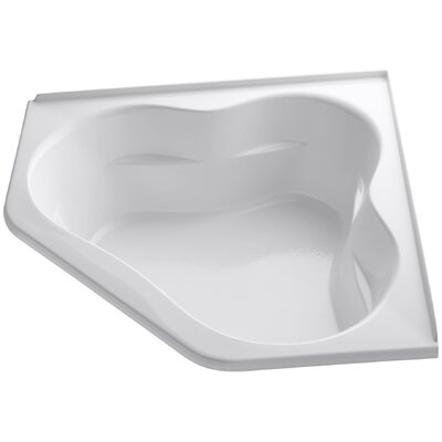 Tercet Bubblemassage 60 x 60 Soaking Bathtub Finish: White