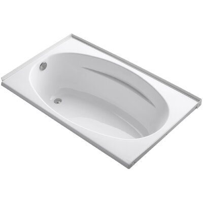 Alcove 60 x 36 Soaking Bathtub Finish: White
