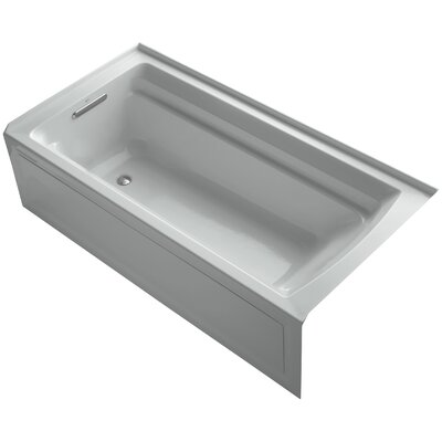 Archer Alcove 72 x 36 Soaking Bathtub Finish: Ice Grey