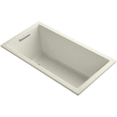 Underscore Vibracoustic 60 x 32 Soaking Bathtub Finish: Almond