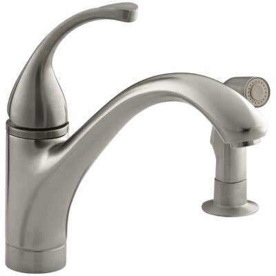 Fort� 2-Hole Kitchen Sink Faucet with 9-1/16 Spout, Matching Finish Sidespray Finish: Vibrant Brushed Nickel