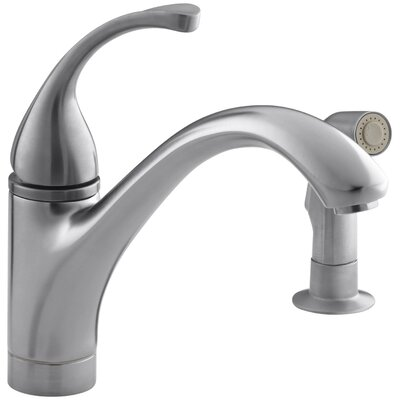 Fort� 2-Hole Kitchen Sink Faucet with 9-1/16 Spout, Matching Finish Sidespray Finish: Brushed Chrome