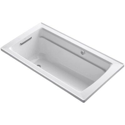 Archer Bubblemassage 60 x 32 Soaking Bathtub Sink Finish: White