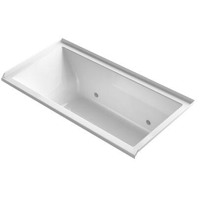 Underscore Alcove Vibracoustic 60 x 30 Whirpool Bathtub Finish: White