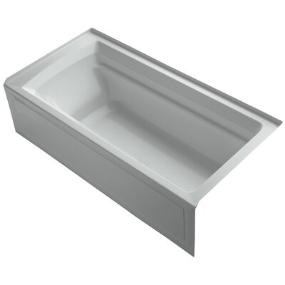 Archer 72 x 36 Soaking Bathtub Finish: Ice Grey, Drain Location: Right