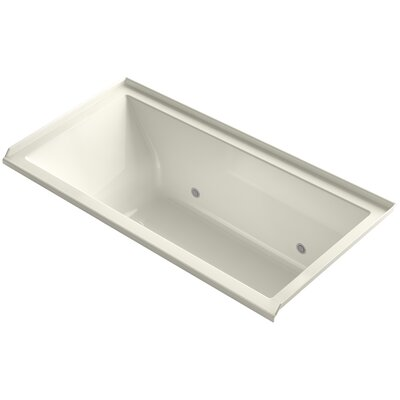 Underscore Alcove Vibracoustic 60 x 30 Whirpool Bathtub Finish: Biscuit